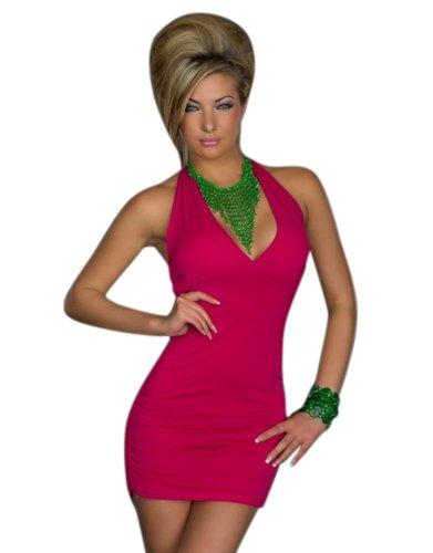 Blansdi Sexy V-Ausschnitt schwarz Damen R¨¹ckenfrei Kleid Minikleid Party Abendkleid Cocktailkleid Dress Skirt
