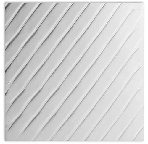 Diagonal Textured Fusing Tile - Created by Hand - Fusible Glass Slumping (Glass Fusing Textured Tile Mold)