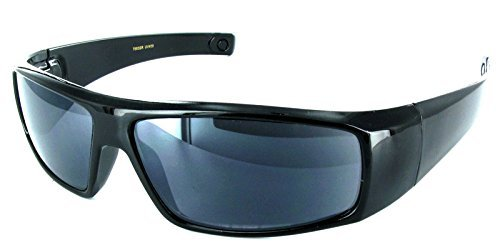 The Unisex Wrap Around Terminator Sun Reader Reading Glasses for Men and Women +3.00 Black (Carrying Case - Glasses Sunglasses And Carrying