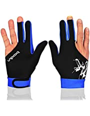 Anser M050912 Man Vrouw Elastische Lycra 3 Vingers Show Handschoenen voor Biljart Shooters Carom Pool Snooker Cue Sport - Draag op de rechter- of linkerhand 1 STKS