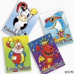 OTC - Kid's Coloring Books 5' x 7' - Great Party Favors! (12-Pack)