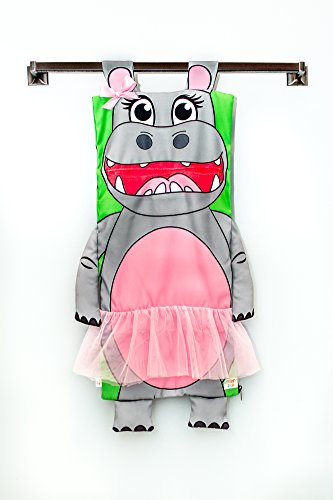Hungry Hanging Hamper (Hippo) | A FUN Way To Pick-Up & Store Toys, Stuffed Animals, Or Laundry |