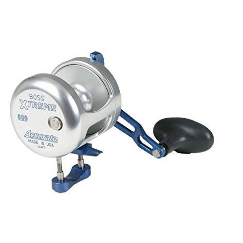 Accurate BX2-600 Boss Extreme 2-Speed Reel - Silver/Blue