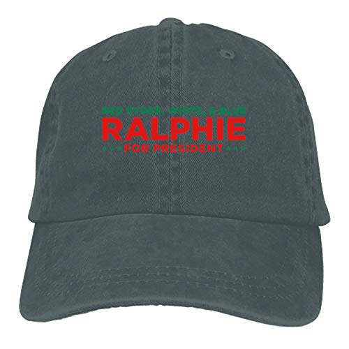 Custom Ralphie for Presdient Classic Cotton Adjustable Baseball Cap, Dad Trucker Snapback -