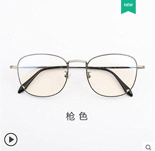 gafas las azul luz gafas a marea prueba gafas de anti de puro marco titanio móvil KOMNY macho gafas espejo puro corriente plano versión de Titanio marea la contra Gun Color azul radiaciones gafas coreana Px7ZRvI