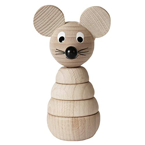 Product Image of the Wooden Mouse Stacking Toy