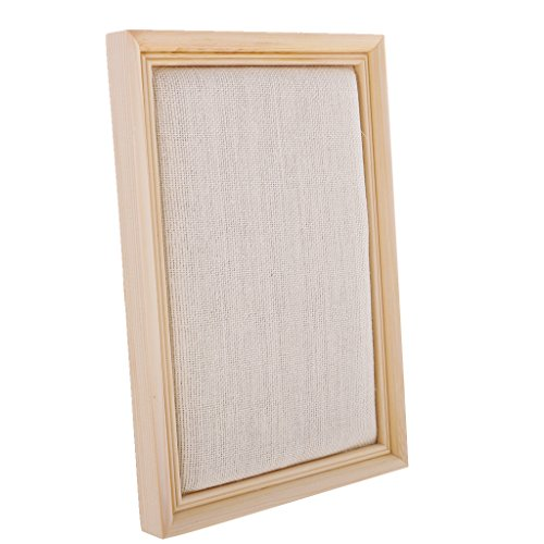 MonkeyJack Wooden Linen Shabby Photo Frame Jewelry Display Wall Mount Bulletin Board Picture Frame Hanging Jewelry Showcase - Natural