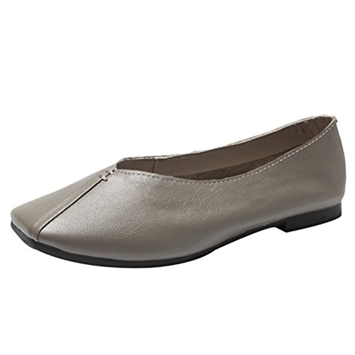 Mordenmiss Women's Daisy Glove Shoes Sweet Bow Flat Style 2 Gray