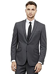 Kenneth Cole REACTION Men\'s Grey Solid Suit Separate Jacket,  Gray, 48 R