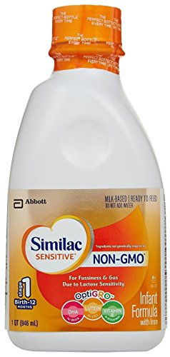 Similac Sensitive Non-GMO Baby Formula - Ready to Feed - 32 oz - 6 pk