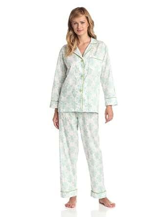BedHead Pajamas Women's Fleur De Lis, Cream, X-Small