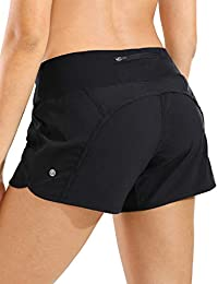 Women's Quick-Dry Athletic Sports Running Workout Shorts with Zip Pocket - 4 Inches