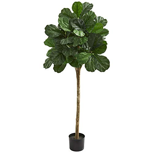 Nearly Natural 9110 5' Fiddle Leaf Fig Artificial Silk Trees, - Trees Fig Silk