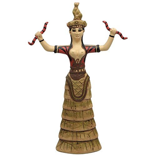 Minoan Snake Goddess Statue from Knossos Palace