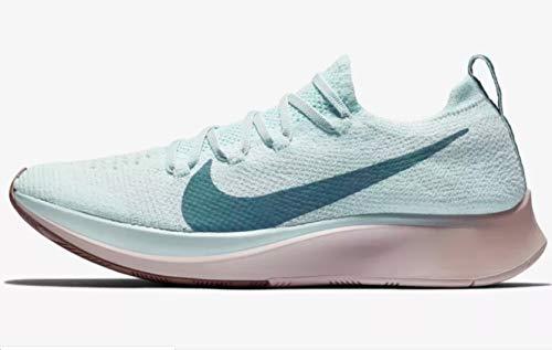 Nike Women's Zoom Fly Flyknit Running Shoes (9, Blue/Rose) (Women Zoom Flyknit Nike)