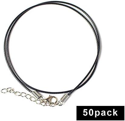 50 piezas collar cordón con cierre para hacer joyas encerado collar cadena: Amazon.es: Hogar