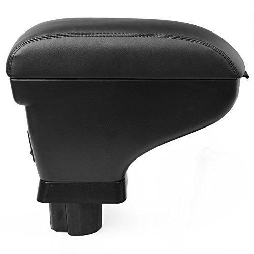 Phgiveu Black Leather Console Center Armrest for 07 08 09 10 11 Nissan Versa Tiida Sedan 5dr Hatchback Hb 2007 2008 2009 2010 2011 Brand NEW on Sale Padding Latch--phgiveu 10% Discount