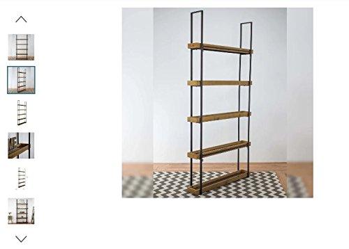 American 29''H x 15''W Art Decor Rustic Farmhouse Storage Shelf, 5 Equipped Shelves With Maximize Storage