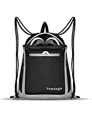Vemingo Drawstring Backpack Bags, Men Women Drawstring Gym Sack Cinch Bag Backpacks Gymsack Sackpack Waterproof