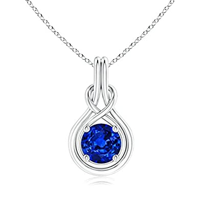 Angara 8mm Natural Sapphire Necklace in 14k White Gold nVBE2