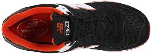 NEW BALANCE ML574 CLASICO & LIFESTYLE - Zapatillas de deporte para hombre BLACK/ORANGE (952)