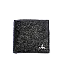 Vivienne Westwood Milano Coin Pocket Wallet in Black. Wallet by Vivienne Westwood. Soft grained leather. Silver coloured Orb to the front. Two note/receipt slots. Three credit card compartments. Press stud fastening coin compartment. Arrives ...