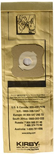 Kirby Micron Magic Filtration Vacuum Cleaner Bags - for Models G4 and G5 - New Old Stock - Package of 9 Vacuum Cleaner Bags