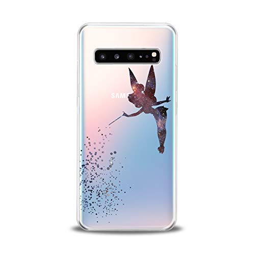 Lex Altern TPU Case for Samsung Galaxy s10 5G Plus 10e Note 9 s9 s8 s7 Fairy Tinkerbell Clear Figure Cute Cover Print Protective Women Animation Silicone Transparent Flexible Girly Cartoon Present ()