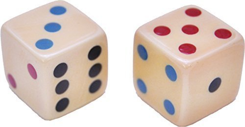 Morris Costumes Colored Dice With Multicolor Dots (Dice Costumes)