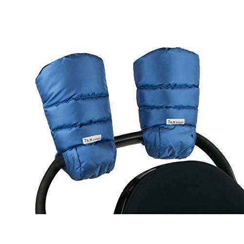 7 A.M. Enfant Warmmuffs Stroller Gloves with Universal Fit (Metallic Yale Blue)