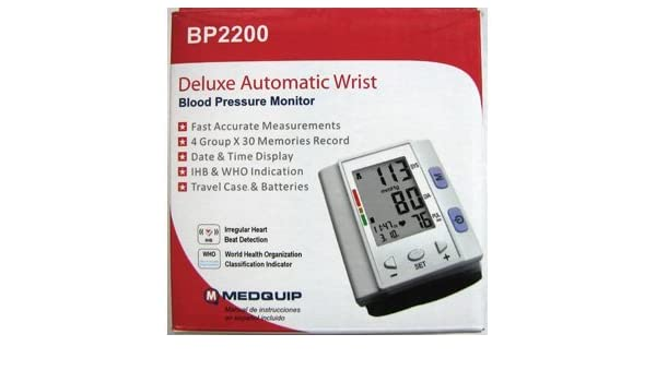 Amazon.com: Medquip Deluxe Automatic Blood Pressure Monitor: Health & Personal Care