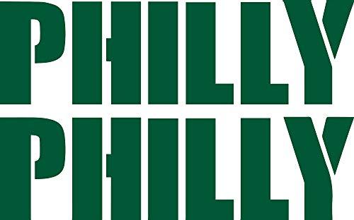 Mailbox Green Eagle Door - ANGDEST Philly Philadelphia Eagles (Green) (Set of 2) Premium Waterproof Vinyl Decal Stickers for Laptop Phone Accessory Helmet Car Window Bumper Mug Tuber Cup Door Wall Decoration