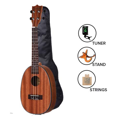 Kadence 24″ Pineapple Shape Concert Ukulele -Saple wood with Binding Super Combo With Stand, String and Tuner