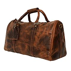 Looking for a step above the ordinary duffle bag? Want something that's stylish-but also sturdy enough to stand up to heavy handling? Once you get your hands on this distinguished-looking Leather Duffle Bag by Rustic Town, you'll be planning ...