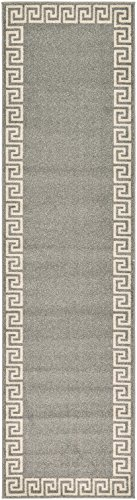 "A2Z Rug Modern Contemporary Area Rug Geometric Gray 2′ 7"" x 10′ FT Santorini Collection Rugs – rugs for living room – rugs for dining room & bedroom – Floor Carpet For Sale"