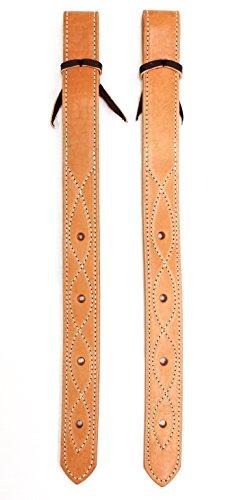 Leather Flank Billet Rear Saddle Double-Ply Back Billets - Pair (2)