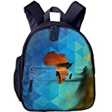 Africa Map Funny Kids Bags Boys And Girls School Backpack