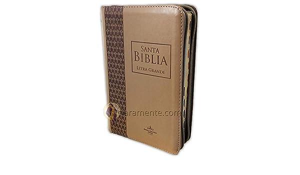 Santa Biblia Letra Grande 12 Puntos Con Cierre Tamaño Manual