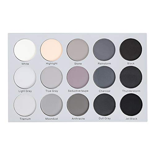 Kara Beauty ES24 15 COLOR SMOKY GREY EYESHADOW (Best Eyeshadow For Gray Eyes)