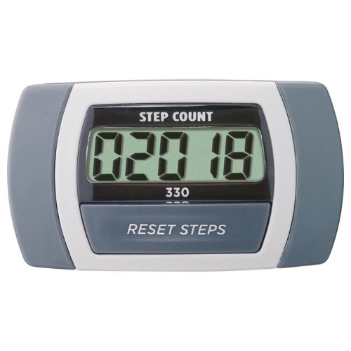 Sportline Walking Advantage 330 Step Count Pedometer With Large Electronic Display and Waist Clip (Sportline Pedometer Walking Advantage)
