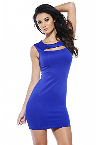 Sexy Mini Kleid Blau