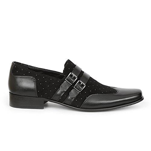 Giorgio Brutini Men's Slip-on Nyne 176681 Black/Gray shop offer online C299AXsOf