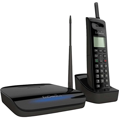 EnGenius FreeStyl 2, High power and sensitivity wireless extreme range, 9 Handset Landline Telephone, 900 Mhz with 2-way (Cordless Phone Mhz)