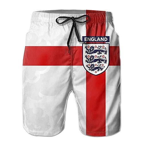England Flag Art Men's Swim Trunks 3D Printing Easeful Board Shorts