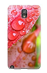 Andrew Cardin's Shop New Style Tpu Case For Galaxy Note 3 With Water Drops On Leaves