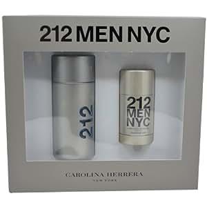 212 by Carolina Herrera for Men, Eau De Toilette Spray 3.4-Ounces & Deodorant Stick 2.1-Ounces