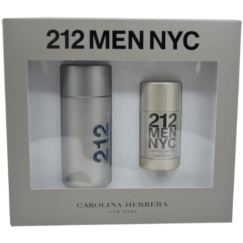 212 by Carolina Herrera for Men, Eau De Toilette Spray 3.4-Ounces & Deodorant Stick 2.1-Ounces (Carolina Herrera Deodorant Stick)