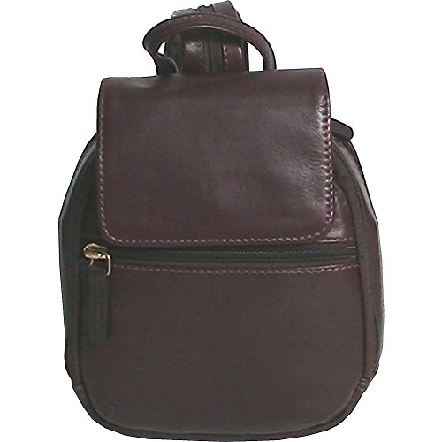 Mini Leather Backpack Scully Handbag Chocolate fqzBOOUwxn