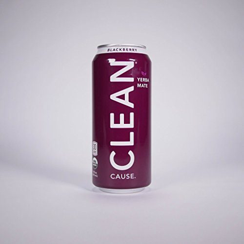 Clean Cause Sparkling Blackberry Yerba Mate - 16 Ounces (Case of 12)