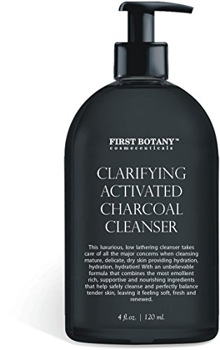 Activated Charcoal Cleanser 4 fl oz with MSM and Vegan DMAE, Vitamin C and Alpha Lipoic acid helps to combat acne and blemishes, fade dark spots, and provide anti-aging and (Dmae Foaming Facial Cleanser)